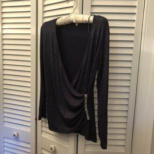 Juicy Couture shiny dark purple/navy top, Medium
